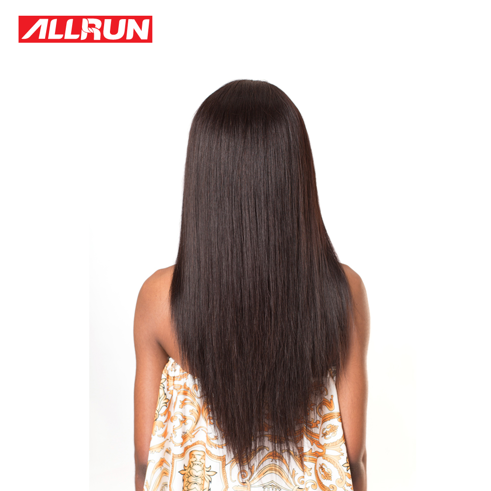 Straight perm damage - Allrun Brazilian Straight Hair Extensions 8 28 100 Non Remy Human Hair Weaving Natural Color Can Be Permed