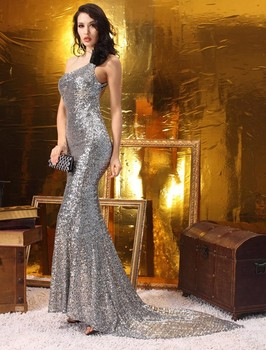 2019 Real Picture Sequined Party homecoming Ball gowns Formal Long Evening dresses vestidos de festa Robe de soiree Abiti 2395