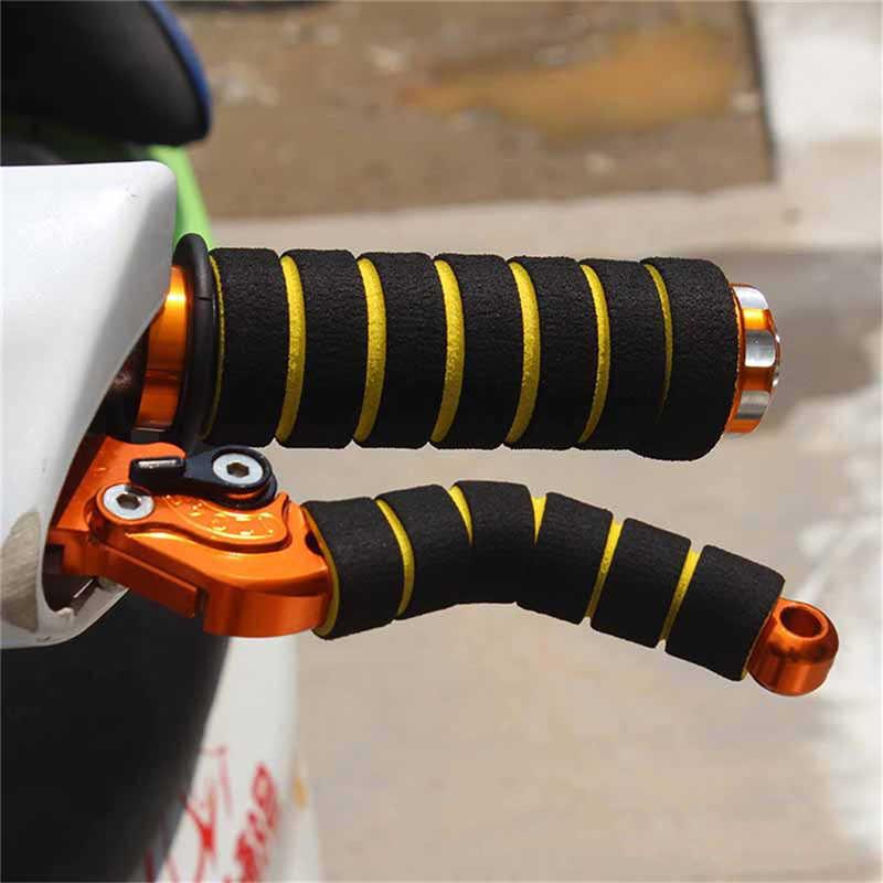 バイク自転車ハンドル抗スリップオートバイグリップカバーハンドルスポンジグリップ高密度スポンジ MTB 折りたたみ
