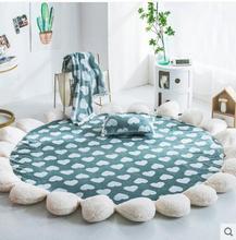 Round Carpet 3D Print Earth Planet Soft Carpets Anti-slip Rugs 145cm Computer Chair Mat Floor for Kids Room Home Decor