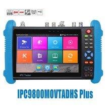 DHL Бесплатная 9800 плюс 7 дюймов IP Камера тестер H.265 4 К 8MP TVI CVI AHD SDI CVBS IPC CCTV монитор с кабелем tracer/TDR/мультиметр