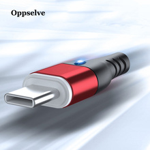 Oppselve Magnetic USB Type C Cable 3A Fast Charging Type-C Magnet Charger For Samsung S9 S10 S8 Xiaomi mi9 Redmi note 7 2M