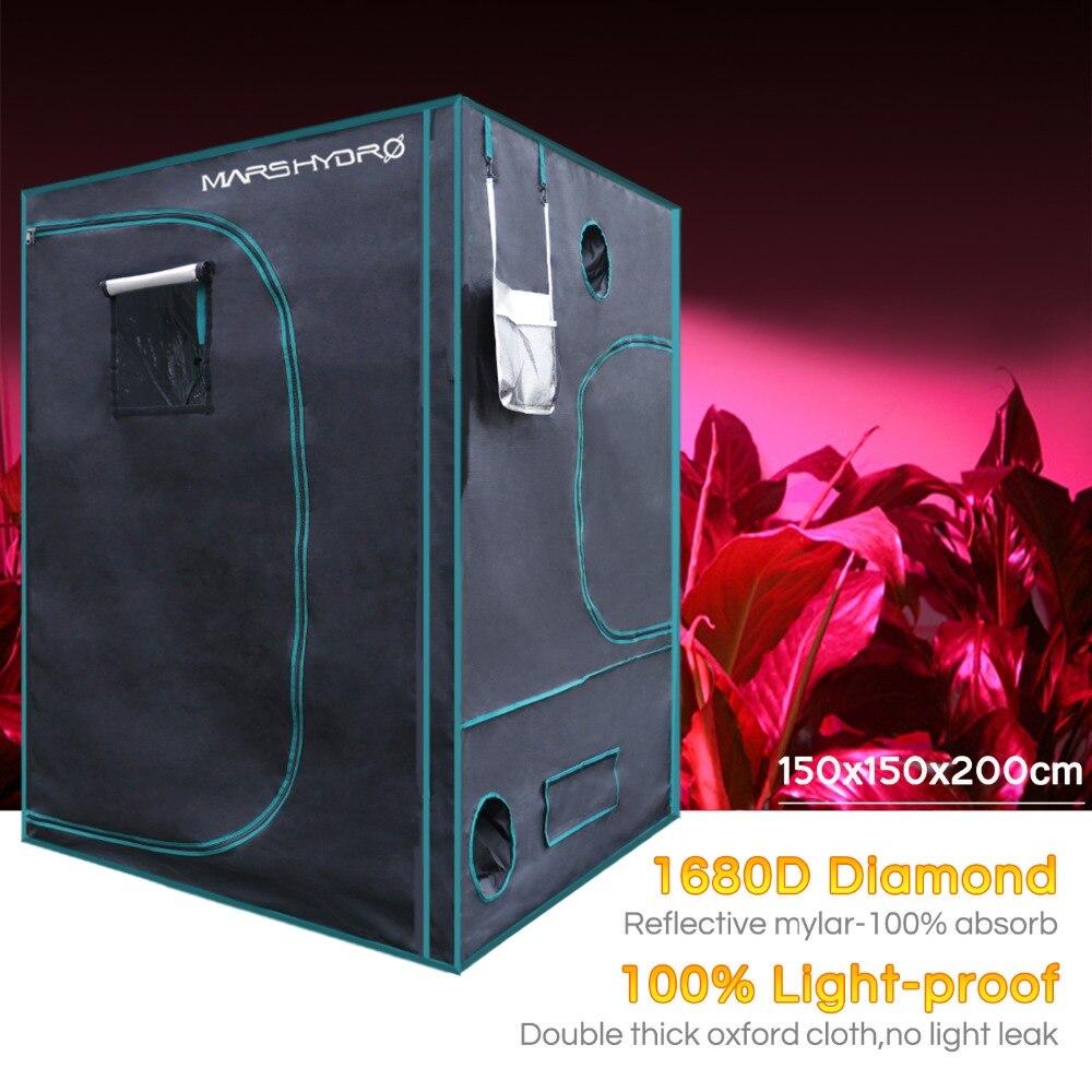 1680D Marshydro LED grow tent 150*150*200cm para Hidroponia, Caixa de Crescer, LEVOU Crescer Sistema