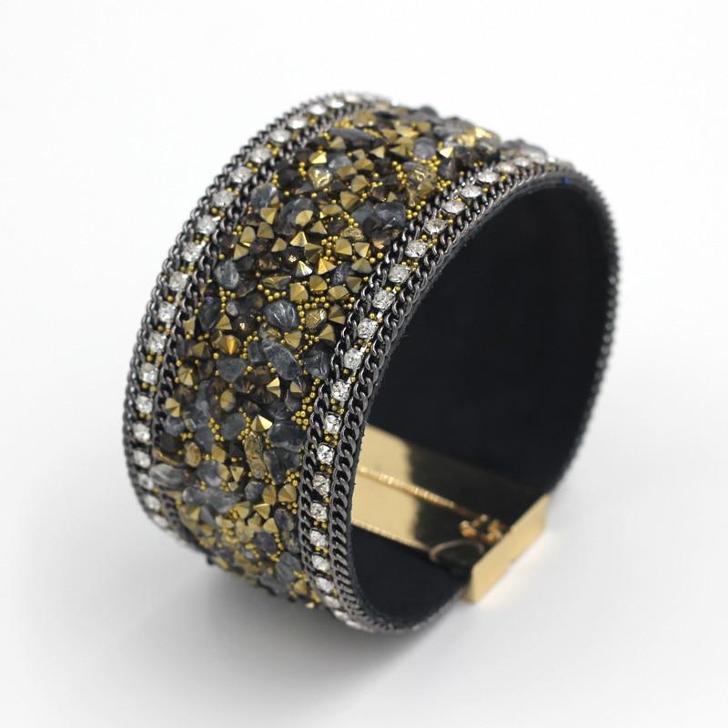 Magnetic jewelry fashion women leather bangle bracelet 2
