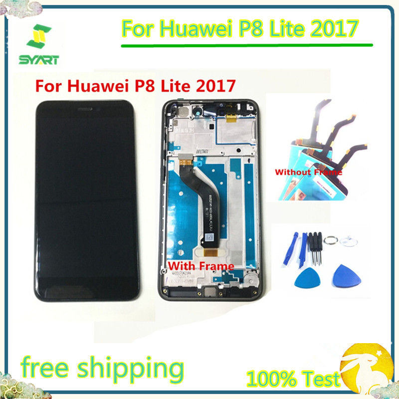 <font><b>Honor</b></font> <font><b>8</b></font> Lite LCD LCD <font><b>Display</b></font> Touch Screen With Digitizer Assembly With Frame 2017 For <font><b>Huawei</b></font> P8 Lite 2017 P9 Lite 2017 image