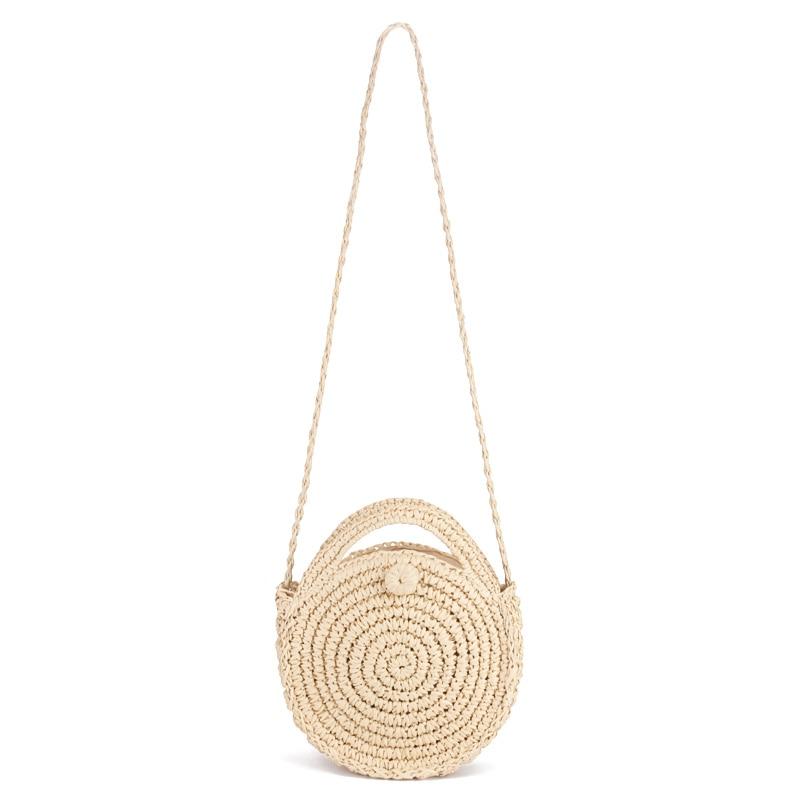 Bulat Tali Kertas Tas Pantai Musim Panas Mini Vintage Handmade ... a554f64665