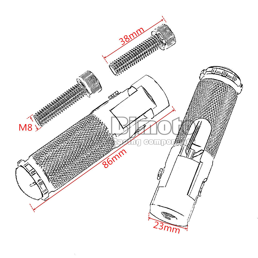 Honda Negro CNC Reposapi/és Estribera Clavijas Pedales Plegables Partes de Moto Universal para BMW Suzuki KTM Kawasaki Yamaha