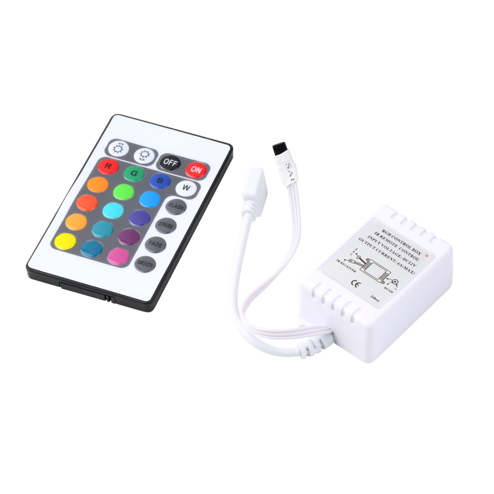 New RGB 16 Colors Remote Control Box DC 12V for LED Light Strip security safety