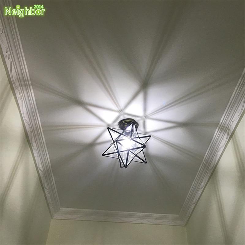 Moderne LED étoile Plafonnier Couloir Allée Couloir Lampe Salon Intérieur  Luminaire Pour Cuisine Bar Fabriqué à La Main Dans Plafonniers De Lumières  Et ...