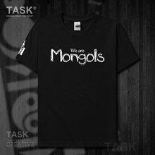 Mongolie MNG Mongol élément Mongol t petit haut t-shirt à manches courtes vêtements coton été Mongol écriture manuscrite police 15