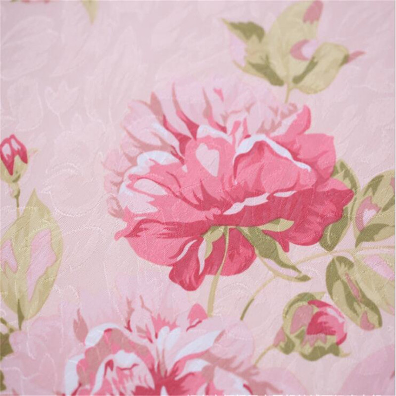 Blue Floral Curtain For Living Room Luxury Semi Blind Drape Window Panel Fabric Curtain For Bedroom Shading Pink Sheer Su386 30 in Curtains from Home Garden