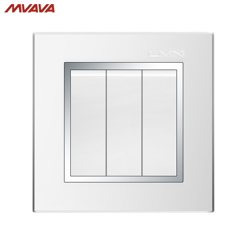 US $8.88 48% OFF MVAVA 3 Gang 1 Way Electrical Wiring Push on Light on