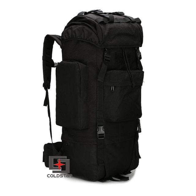 Black Color 65L Large Capacity Mountaineering Bag High quality Outdoor  Backpack Waterproof Travel Hiking Camping Tactical Bag 7a57ca2111bab