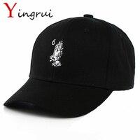Hip Hop God Baseball Cap Namaste Pray Hands Snapback Hat Gesture Adjustable Sun Hats Fitted Trucker