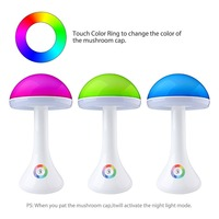 Willshi Mushroom Desk Lamp Night Light Table Light Reading Light 256 Colorful Night Light 3 Levels