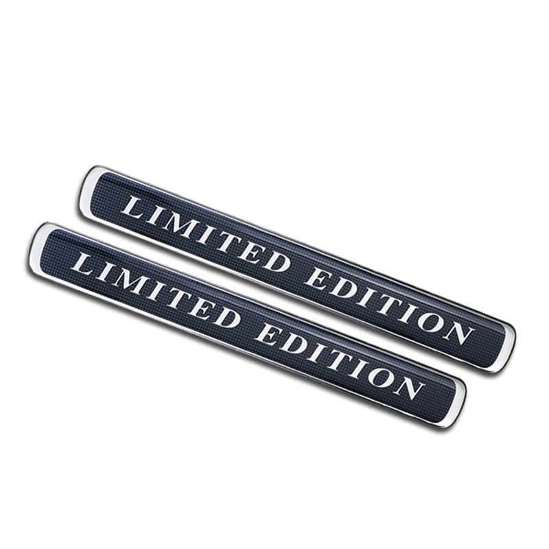 20pcs LIMITED EDITION Car styling 60th Anniversary EXCUTIVE BLACK WHITE BROWNSTONE Car Fender Emblem Decoration for