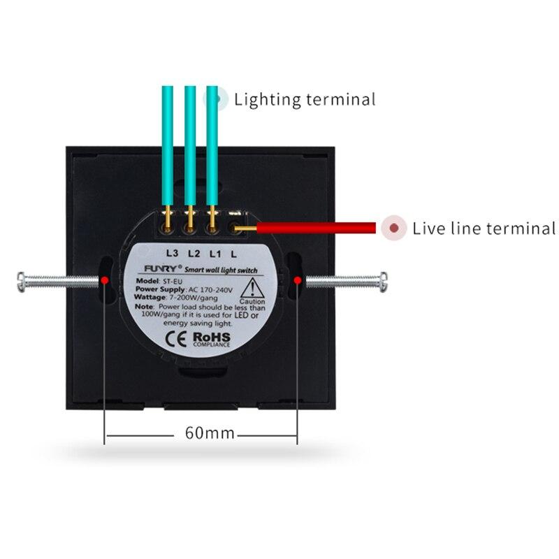Electrical Equipments & Supplies 1 Gang Eu Standard Glass Panel Lamp Socket Wall Light Touch Control 170-240v 86*86*36mm