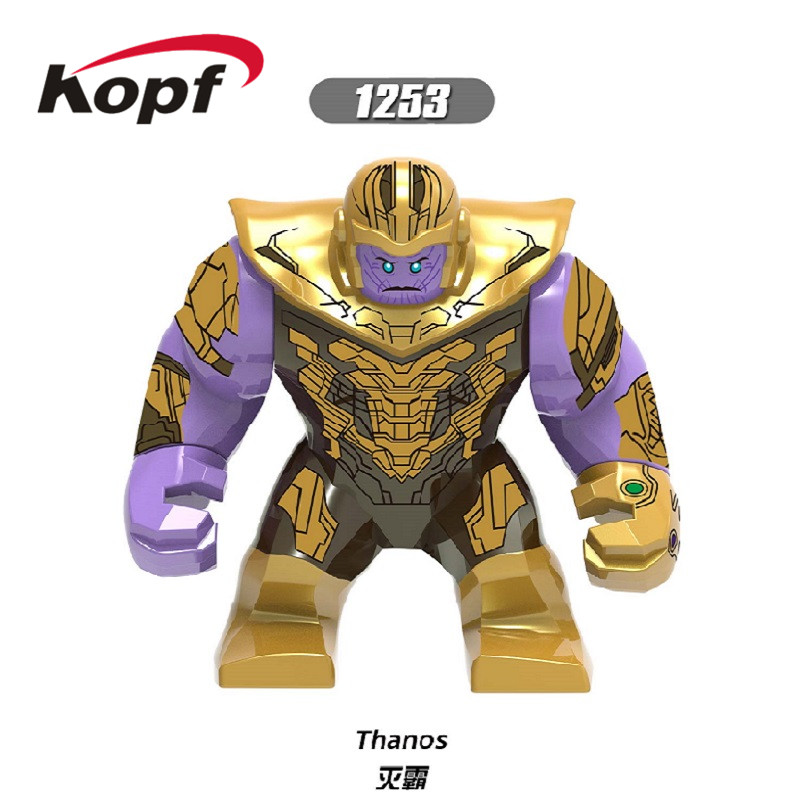 Building Blocks Avengers 4 Endgame Bricks Thanos 7Cm Big Hulk Iron Man Whiplash Figures Collection For Children Toys XH 1253