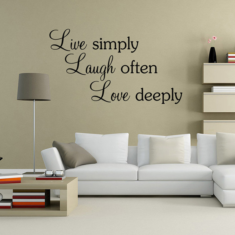 Aliexpress.com : Buy Live Simply Quotes Vinyl Sayings Wall Stickers For  Kids Room Lettering Decal Poster Sofa Wall Decor Decorative Adesivo De  Parede From ... Part 77