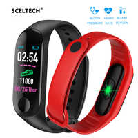 M3 Sport Smart Bracelet Health Sleep Fitness Tracker Heart Rate Monitor Smart Wristband Color LCD Screen Watch for XiaoMi iOS