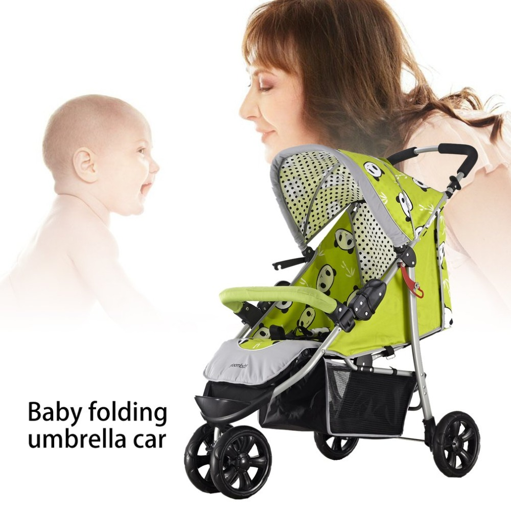Bloom Flower BF333 Baby Stroller Light Weight Three Big Rubber Wheels Foldable Portable Stroller With Umbrella CanopyBloom Flower BF333 Baby Stroller Light Weight Three Big Rubber Wheels Foldable Portable Stroller With Umbrella Canopy