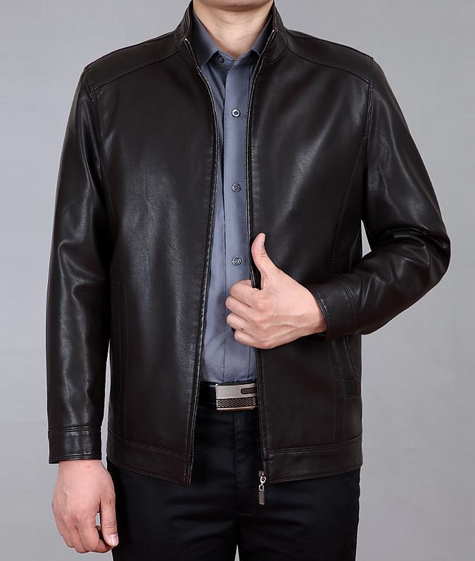 Brand Products Sell Like Hot Cakes Mens Leather Jackets In Spring, Autumn Pu Leather Jackets Men Slim Size Xxxxl Jacket