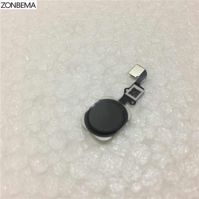"""Zonbema casa botão com cabo flexível conjunto de fita para iphone 6 6g 4.7 """"6 plus 5.5"""" peça de substituição"""