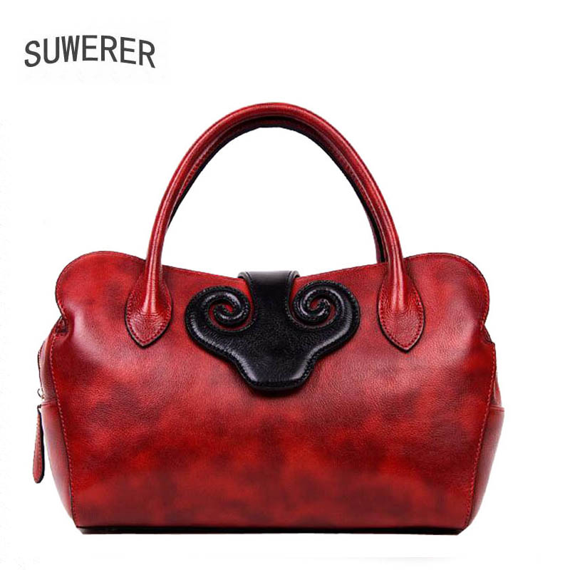 SUWERER 2019 New Genuine Leather women bags Fashion luxury handbags women bags designer women leather handbagsSUWERER 2019 New Genuine Leather women bags Fashion luxury handbags women bags designer women leather handbags