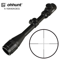 ohhunt 4 16x40 AOEG Hunting Optical Sight Mil Dot Reticle Red Greed Illuminated 25.4mm Tube Tactical Rifle Scope