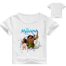 2018 verão top moana crianças roupa Tops Tees Camisetas meninas t camisa de algodão crianças roupas impressão 3-16Y meninas tops