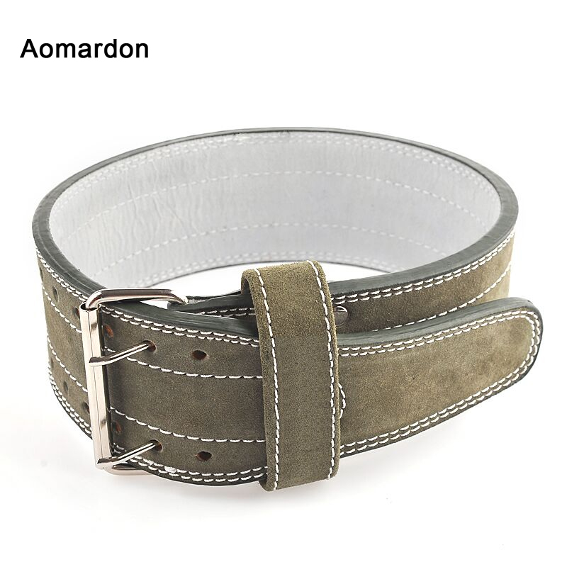 Aomardon Three Layers Pure Cowhide Cowhide Belt Squat Deadlift Weightlifting Training Apparatus Exercise BodyBuilding Belt цены онлайн
