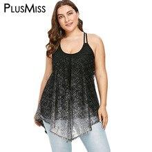 870d76303f5 PlusMiss Plus Size 5XL Sexy Glittery Sequin Boho Beach Loose Spaghetti  Strap Cami Tops Sleeveless Top