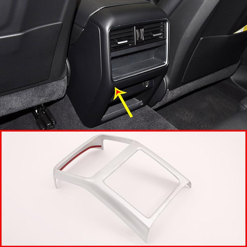 For Porsche Cayenne 2018 2019 Car Interior ABS Matt Rear Row Air Conditioning Vent Frame Trim AccessoriesFor Porsche Cayenne 2018 2019 Car Interior ABS Matt Rear Row Air Conditioning Vent Frame Trim Accessories