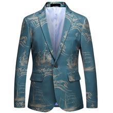 Męska kurtka męska moda w stylu chińskim szczupła kurtka z jednym guzikiem męska biznesowa formalna kurtka męska sukienka na przyjęcia i bankiety tanie tanio auguswu Pojedyncze piersi Ścięty Marynarek L-114 Pełna REGULAR Na co dzień Poliester COTTON
