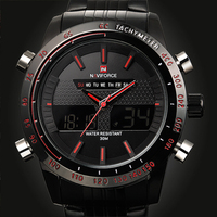 2015 Sports Watches Men Luxury Brand Male Watch Analog LED Digital Watches For Men Full Steel