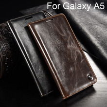 Luxury Flip Cover For Samsung Galaxy A5 2016 sm-A510f / A5 2015 sm-A500f Case Genuine Real Leather Wallet Card Holder Phone Case