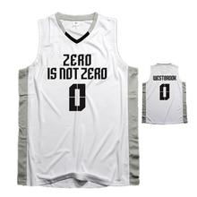 New DIY OKC Thunder Zero Mvp Russell Westbrook 0 Sports clothing mesh  Breathable Throwback Basketball jersey 92b012e7c