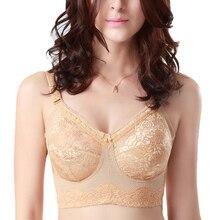32 34 36 38 40 42 B C D E F Drop ship Womens Full Coverage Big Size Underwear Non-padded Wireless Adjustable Bra Lingerie