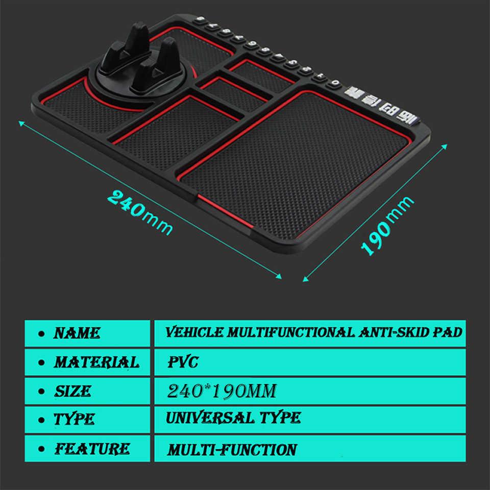 24*20 см Автомобильный Держатель Телефона Противоскользящий коврик парковочная карта для hyundai Creta Tucson Volkswagen VW Golf 6 7 GTI Kia Ceed Rio Sportage