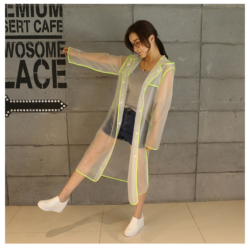 Girls Transparent Raincoat Women Hood Hiking Chubasqueros Impermeables Mujer Awning Rainwear Raincoat Cloaks For Women QQG271