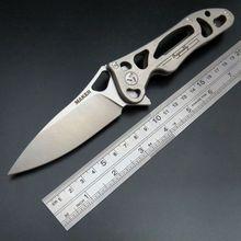 High Quality New Maker 3 designed Original ceramic ball bearing Flipper folding knife S35vn TC4 Titanium handle camping knife
