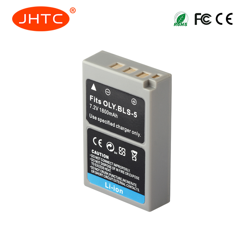 JHTC 1pc 1800mAh PS-BLS5 BLS-5 BLS5 BLS-50 BLS50 Battery for Olympus PEN E-PL2,E-PL5,E-PL6,E-PL7,E-PM2, OM-D E-M10, E-M10 II, аккумулятор digicare plo s5 olympus bls 5 bls 1 для pen e p3 e pl2 e pl3 e pm1