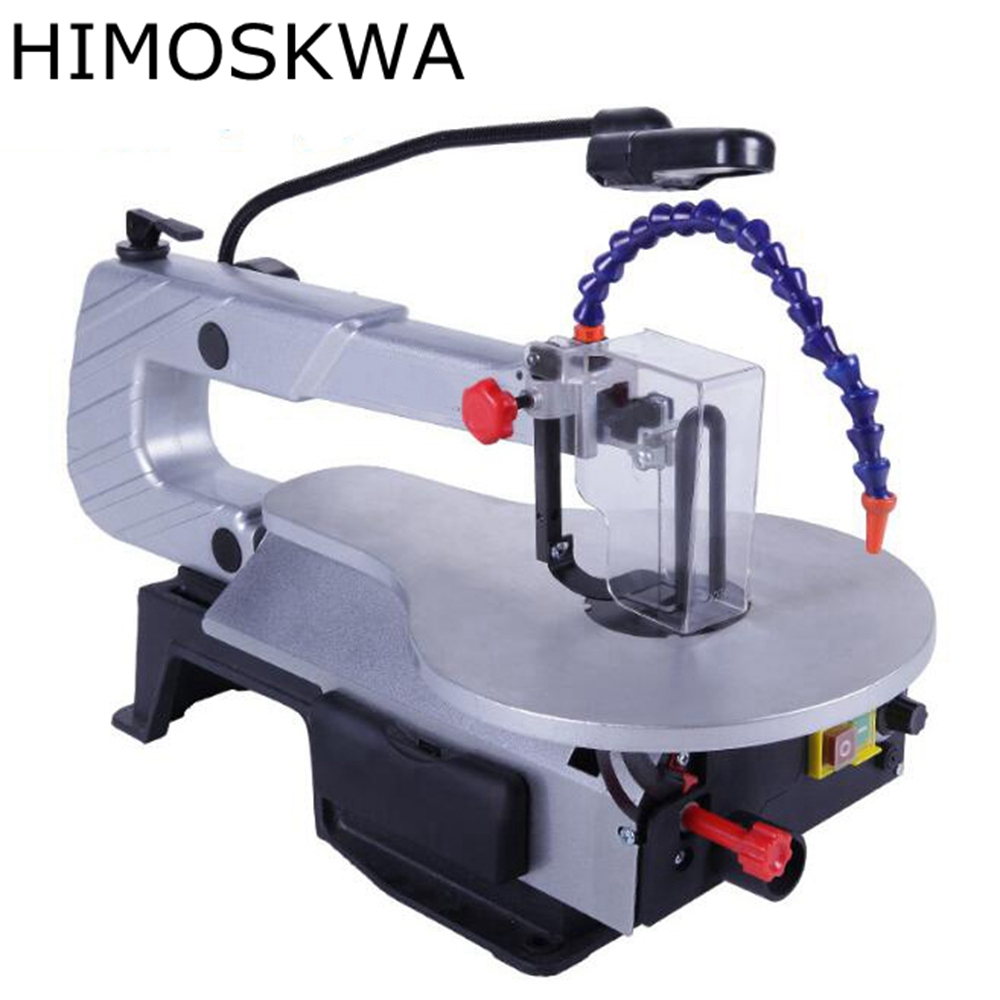 цена на HIMOSKWA Electric jig saw desktop wire saw carving woodworking tools decoration saw cutting machine