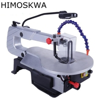 HIMOSKWA Electric Jig Saw Desktop Wire Saw Carving Woodworking Tools Decoration Saw Cutting Machine