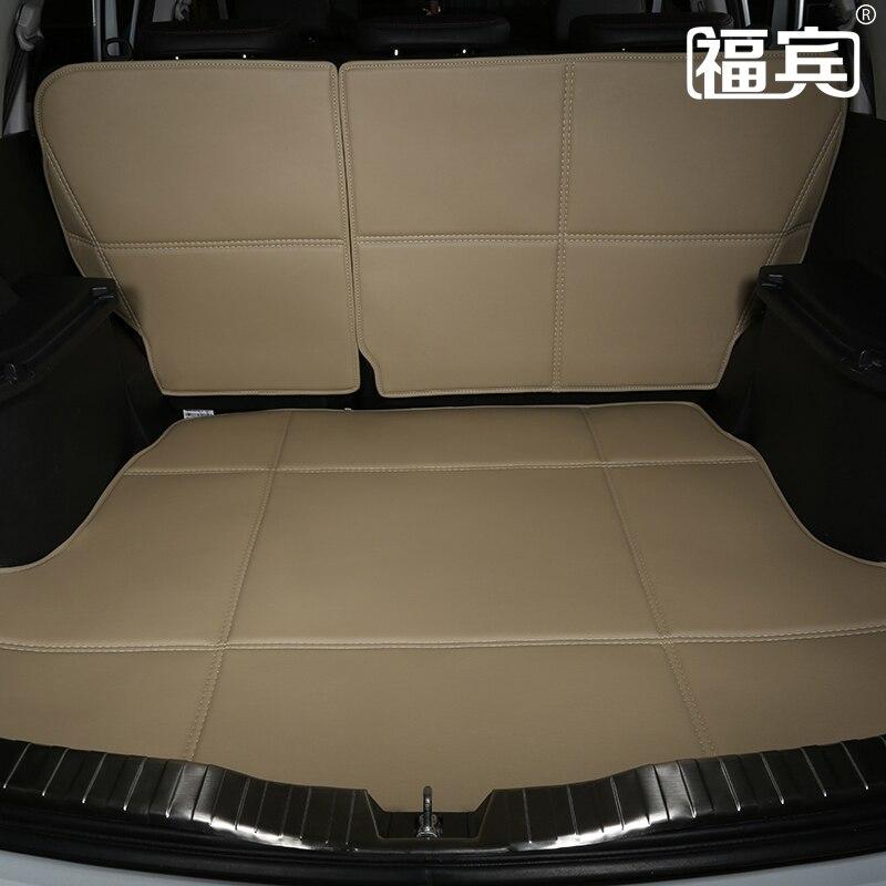 Coussinets de dossier en cuir PU + tapis de coffre de voiture pour GLK260300 C180E260LC260