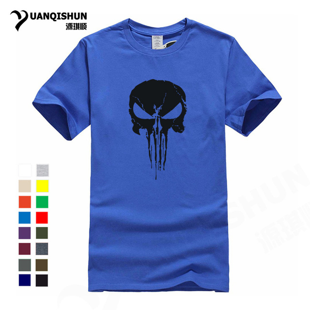 d6ed11d3 2018 New Punisher Skull Cool T Shirt Personality Design Trend Tshirt Top  Quality Pure Cotton Boutique T-shirt Hip Hop Casual Tee