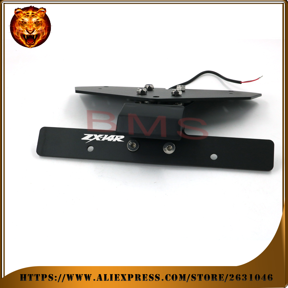 Motorcycle Tail Tidy Fender Eliminator Registration License Plate Holder bracket LED Light For KAWASAKI NINJA ZX14R ZX-14R 2011 maluokasa motorcycle fender eliminator tail tidy for suzuki hayabusa gsx1300r 2008 2009 motor license plate tail light bracket