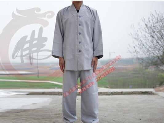 Buddhist monk robes chinese shaolin monk robes new design buddhist monk costume high quality monk robe free shipping