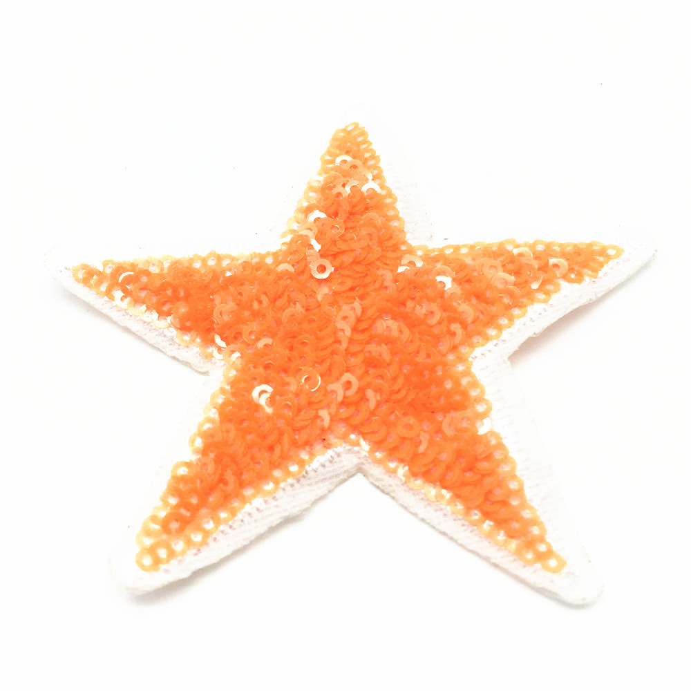 60pcs Mixed Star Sequins Patches Embroidered Badge Stickers Clothes T Shirt Patch DIY Clothing Decoration 8 5cm in Patches from Home Garden