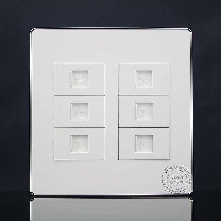 120*120mm Wall Socket Plate 6 Ports LAN Network RJ45 Cat5e Ports Panel Faceplate Outlet Home Adapter минипечь gefest пгэ 120 пгэ 120